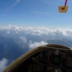 Flugwegposition um 10:10:17: Aufgenommen in der Nähe von Hieflau, 8920, Österreich in 2949 Meter