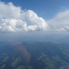 Flugwegposition um 14:11:59: Aufgenommen in der Nähe von Gemeinde Bischofshofen, Bischofshofen, Österreich in 2650 Meter