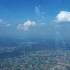 Flugwegposition um 12:33:57: Aufgenommen in der Nähe von Neunkirchen, 2620 Neunkirchen, Österreich in 1824 Meter