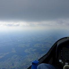 Flugwegposition um 14:36:19: Aufgenommen in der Nähe von Rottal-Inn, Deutschland in 2101 Meter