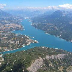 Flugwegposition um 11:54:40: Aufgenommen in der Nähe von Département Hautes-Alpes, Frankreich in 2297 Meter