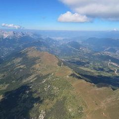Flugwegposition um 13:07:16: Aufgenommen in der Nähe von Isère, Frankreich in 2381 Meter