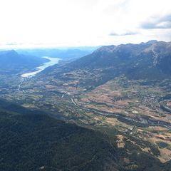 Flugwegposition um 13:01:37: Aufgenommen in der Nähe von Département Hautes-Alpes, Frankreich in 2884 Meter