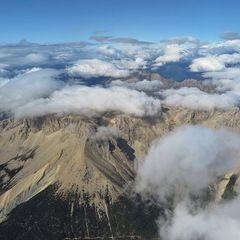 Flugwegposition um 14:36:42: Aufgenommen in der Nähe von Département Hautes-Alpes, Frankreich in 3805 Meter
