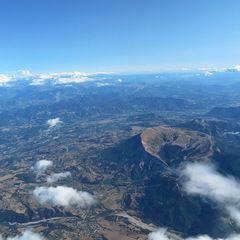 Flugwegposition um 14:57:50: Aufgenommen in der Nähe von Département Hautes-Alpes, Frankreich in 5069 Meter