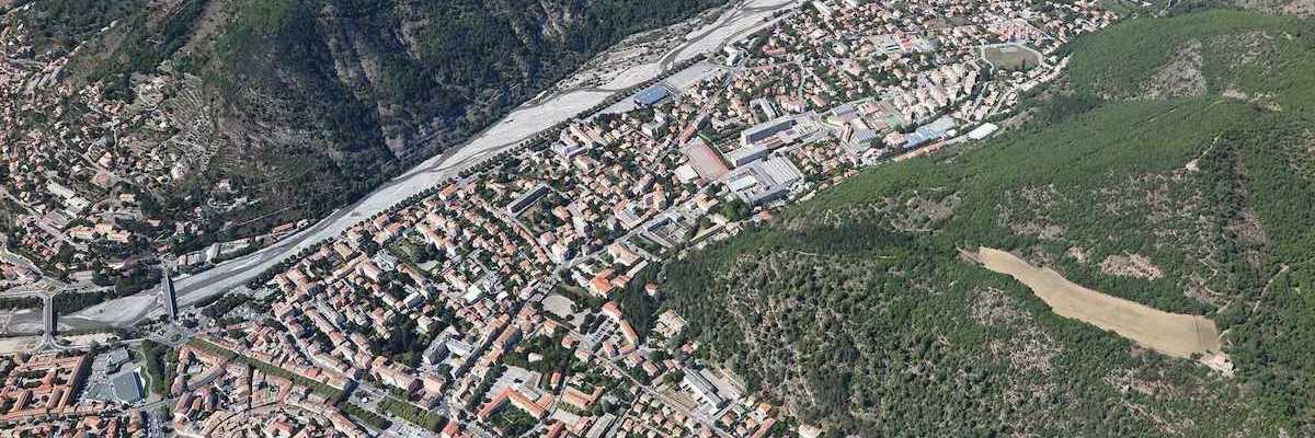 Flugwegposition um 12:03:24: Aufgenommen in der Nähe von Département Alpes-de-Haute-Provence, Frankreich in 1814 Meter