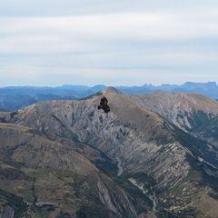 Flugwegposition um 13:07:28: Aufgenommen in der Nähe von Département Alpes-de-Haute-Provence, Frankreich in 2150 Meter