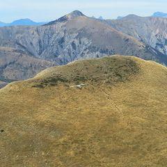 Flugwegposition um 12:54:36: Aufgenommen in der Nähe von Département Alpes-de-Haute-Provence, Frankreich in 1923 Meter