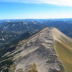 Flugwegposition um 13:50:21: Aufgenommen in der Nähe von Département Alpes-de-Haute-Provence, Frankreich in 2484 Meter
