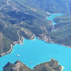 Flugwegposition um 11:34:36: Aufgenommen in der Nähe von Département Alpes-de-Haute-Provence, Frankreich in 2278 Meter