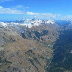 Flugwegposition um 12:27:50: Aufgenommen in der Nähe von Département Alpes-de-Haute-Provence, Frankreich in 2989 Meter