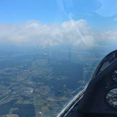 Flugwegposition um 12:10:53: Aufgenommen in der Nähe von Gemeinde Kaindorf bei Hartberg, 8224 Kaindorf bei Hartberg, Österreich in 2009 Meter
