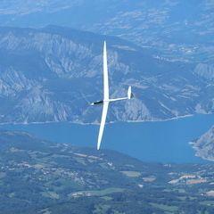 Flugwegposition um 13:25:27: Aufgenommen in der Nähe von Département Alpes-de-Haute-Provence, Frankreich in 2639 Meter