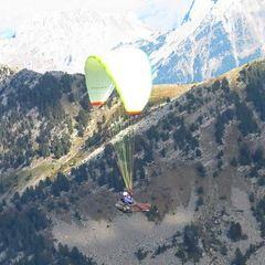 Flugwegposition um 14:33:56: Aufgenommen in der Nähe von Département Alpes-de-Haute-Provence, Frankreich in 2242 Meter