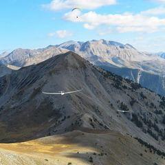 Flugwegposition um 14:33:44: Aufgenommen in der Nähe von Département Alpes-de-Haute-Provence, Frankreich in 2222 Meter