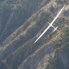 Flugwegposition um 13:28:54: Aufgenommen in der Nähe von Département Alpes-de-Haute-Provence, Frankreich in 2837 Meter