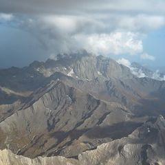 Flugwegposition um 14:18:22: Aufgenommen in der Nähe von Département Hautes-Alpes, Frankreich in 3828 Meter