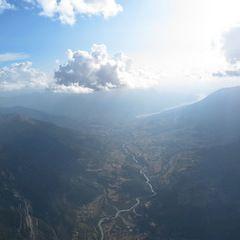 Flugwegposition um 14:52:37: Aufgenommen in der Nähe von Département Hautes-Alpes, Frankreich in 3406 Meter