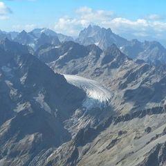 Flugwegposition um 14:21:47: Aufgenommen in der Nähe von Département Hautes-Alpes, Frankreich in 3840 Meter