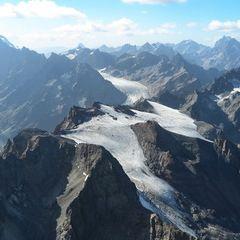 Flugwegposition um 14:24:29: Aufgenommen in der Nähe von Département Hautes-Alpes, Frankreich in 3751 Meter