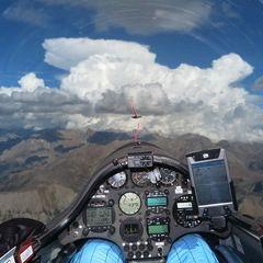Flugwegposition um 13:07:01: Aufgenommen in der Nähe von Département Alpes-de-Haute-Provence, Frankreich in 3707 Meter