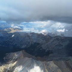 Flugwegposition um 13:35:24: Aufgenommen in der Nähe von Département Hautes-Alpes, Frankreich in 3608 Meter