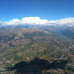 Flugwegposition um 14:09:25: Aufgenommen in der Nähe von Département Hautes-Alpes, Frankreich in 2836 Meter