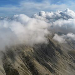 Flugwegposition um 15:09:17: Aufgenommen in der Nähe von Département Alpes-de-Haute-Provence, Frankreich in 2383 Meter