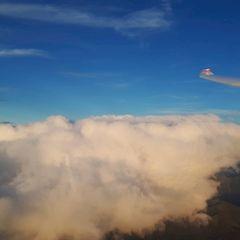 Flugwegposition um 16:35:09: Aufgenommen in der Nähe von Gemeinde Navis, Navis, Österreich in 3598 Meter