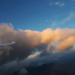 Flugwegposition um 16:46:02: Aufgenommen in der Nähe von Gemeinde Navis, Navis, Österreich in 3223 Meter