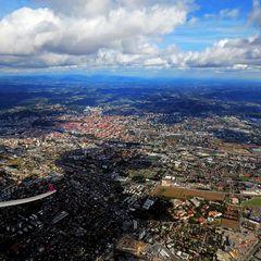 Flugwegposition um 10:18:05: Aufgenommen in der Nähe von Graz, Österreich in 1394 Meter