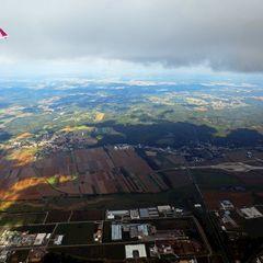Flugwegposition um 11:07:56: Aufgenommen in der Nähe von Gemeinde Neustift bei Güssing, Neustift bei Güssing, Österreich in 1242 Meter