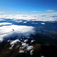 Flugwegposition um 11:53:25: Aufgenommen in der Nähe von Gemeinde Wolfsberg, Wolfsberg, Österreich in 3836 Meter