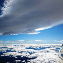 Flugwegposition um 12:42:42: Aufgenommen in der Nähe von Garanas, Österreich in 4500 Meter