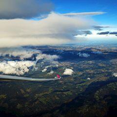 Flugwegposition um 14:29:29: Aufgenommen in der Nähe von Garanas, Österreich in 4809 Meter
