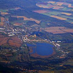 Flugwegposition um 15:08:57: Aufgenommen in der Nähe von Gemeinde Eltendorf, 7562 Eltendorf, Österreich in 3249 Meter