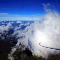 Flugwegposition um 11:00:40: Aufgenommen in der Nähe von Bad Gams, Österreich in 2960 Meter