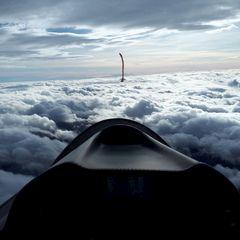 Flugwegposition um 13:46:55: Aufgenommen in der Nähe von Gemeinde Weerberg, 6133, Österreich in 4839 Meter