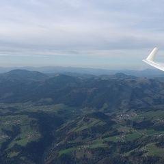 Flugwegposition um 13:23:02: Aufgenommen in der Nähe von Gemeinde Naas, 8160, Österreich in 1834 Meter
