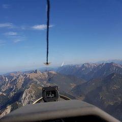 Flugwegposition um 11:21:52: Aufgenommen in der Nähe von Gemeinde Scharnitz, 6108, Österreich in 1852 Meter