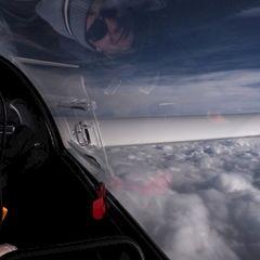 Flugwegposition um 13:24:44: Aufgenommen in der Nähe von Gemeinde Obertraun, Obertraun, Österreich in 5219 Meter