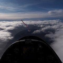 Flugwegposition um 14:04:07: Aufgenommen in der Nähe von Mitterberg-Sankt Martin, Österreich in 1247 Meter