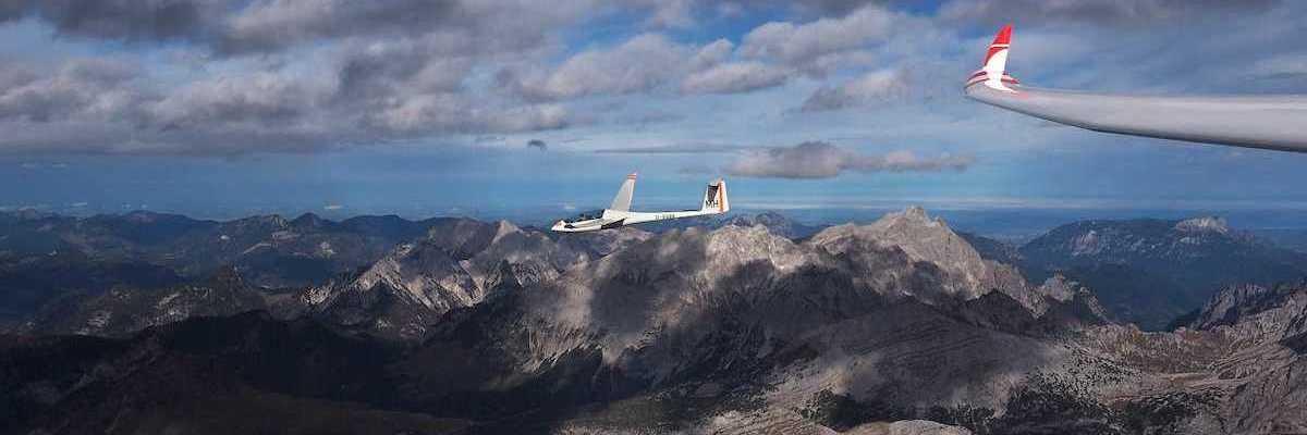 Flugwegposition um 11:22:27: Aufgenommen in der Nähe von Gemeinde Ramsau am Dachstein, 8972, Österreich in 4187 Meter