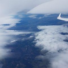 Flugwegposition um 12:56:20: Aufgenommen in der Nähe von Okres Jeseník, Tschechien in 4256 Meter