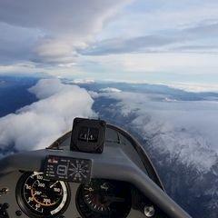 Flugwegposition um 14:16:57: Aufgenommen in der Nähe von Gemeinde Wildalpen, 8924, Österreich in 3801 Meter