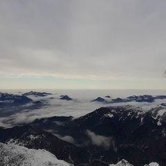 Flugwegposition um 13:51:55: Aufgenommen in der Nähe von Gemeinde Scheffau am Wilden Kaiser, Österreich in 2756 Meter