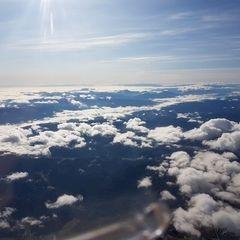 Flugwegposition um 11:10:05: Aufgenommen in der Nähe von Gemeinde Schwarzau im Gebirge, Österreich in 3641 Meter