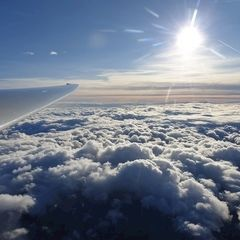 Flugwegposition um 13:25:12: Aufgenommen in der Nähe von Gemeinde Schwarzau im Gebirge, Österreich in 4001 Meter