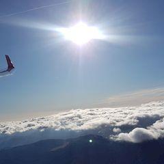 Flugwegposition um 10:57:31: Aufgenommen in der Nähe von Gemeinde Puchberg am Schneeberg, Österreich in 2722 Meter