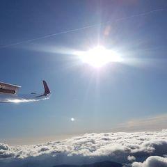 Flugwegposition um 10:57:35: Aufgenommen in der Nähe von Gemeinde Puchberg am Schneeberg, Österreich in 2720 Meter